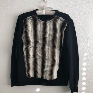 ZARA faux fur front sweatshirt